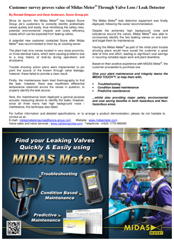 MIDAS Meter<sup>®</sup> out-performs alternative valve monitoring equipment